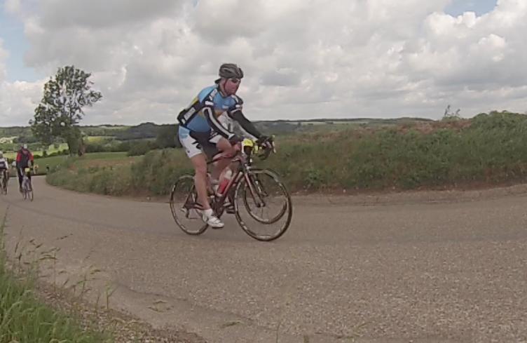 Jur in actie op de fiets bij Limburgs Mooiste