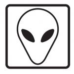 alien emoticon vreemd