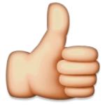emoticon duim omhoog