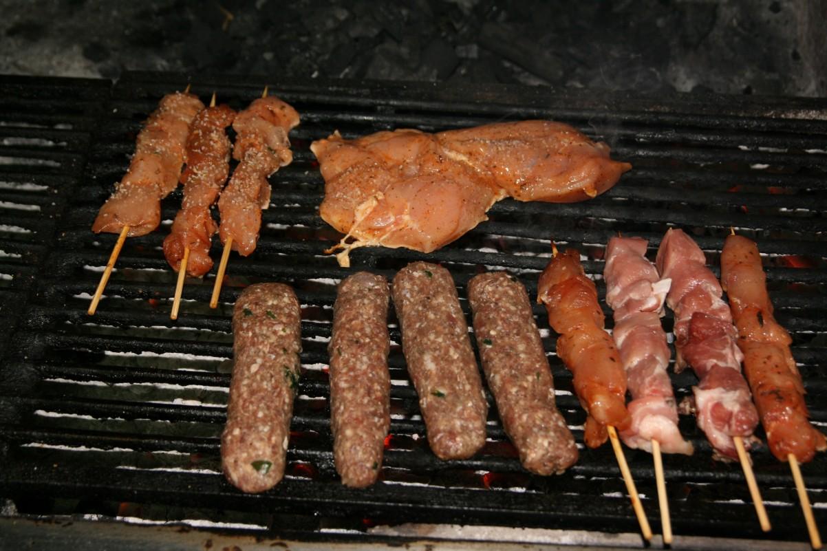 barbecue bij restaurant op Zakynthos