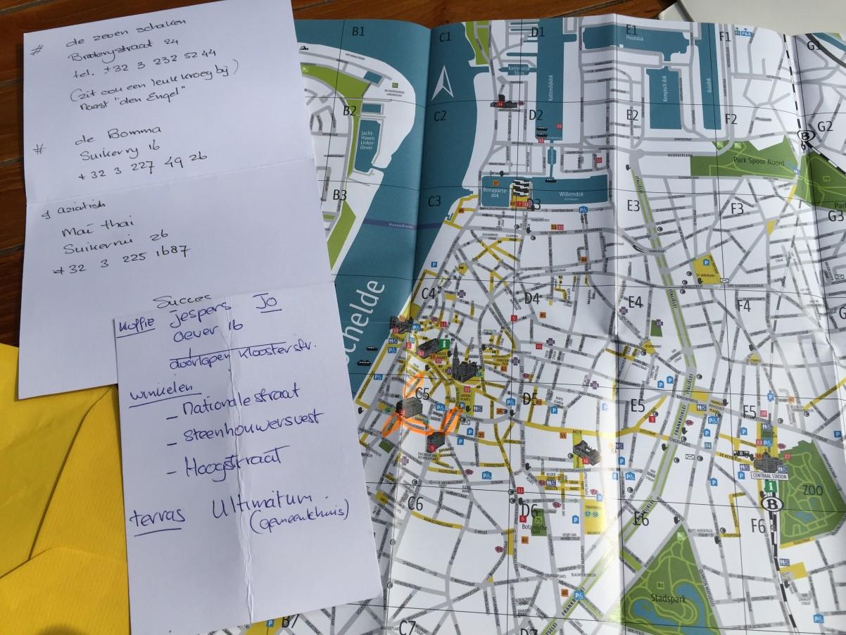 de tips van de buurvrouw met route Antwerpen minivakantie