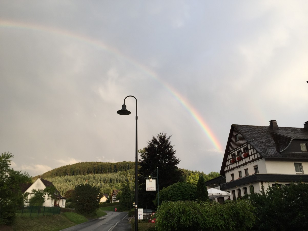 regenboog verjaardag Sauerland Duitsland