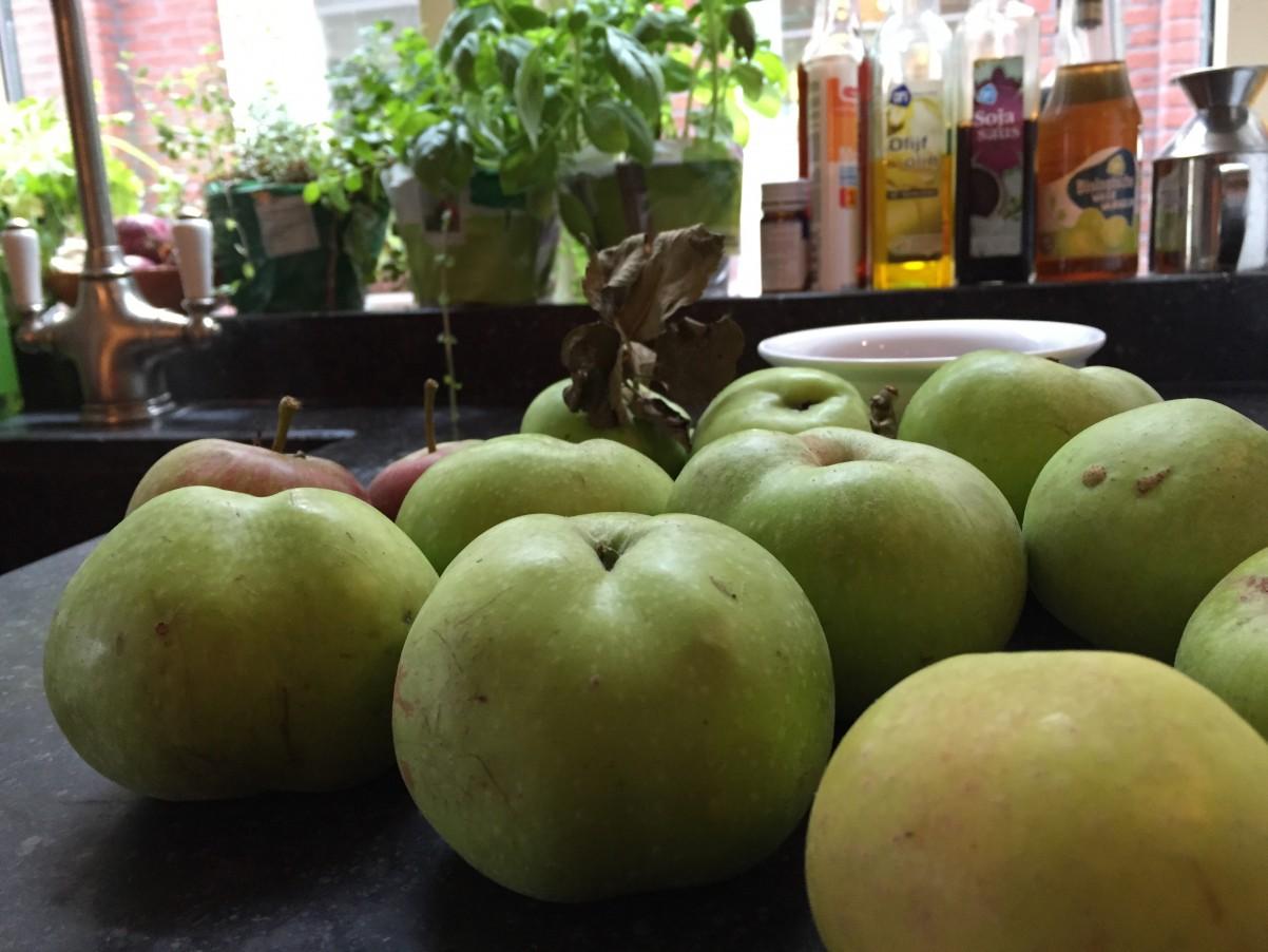 appels uit Duitsland voor de appeltaart