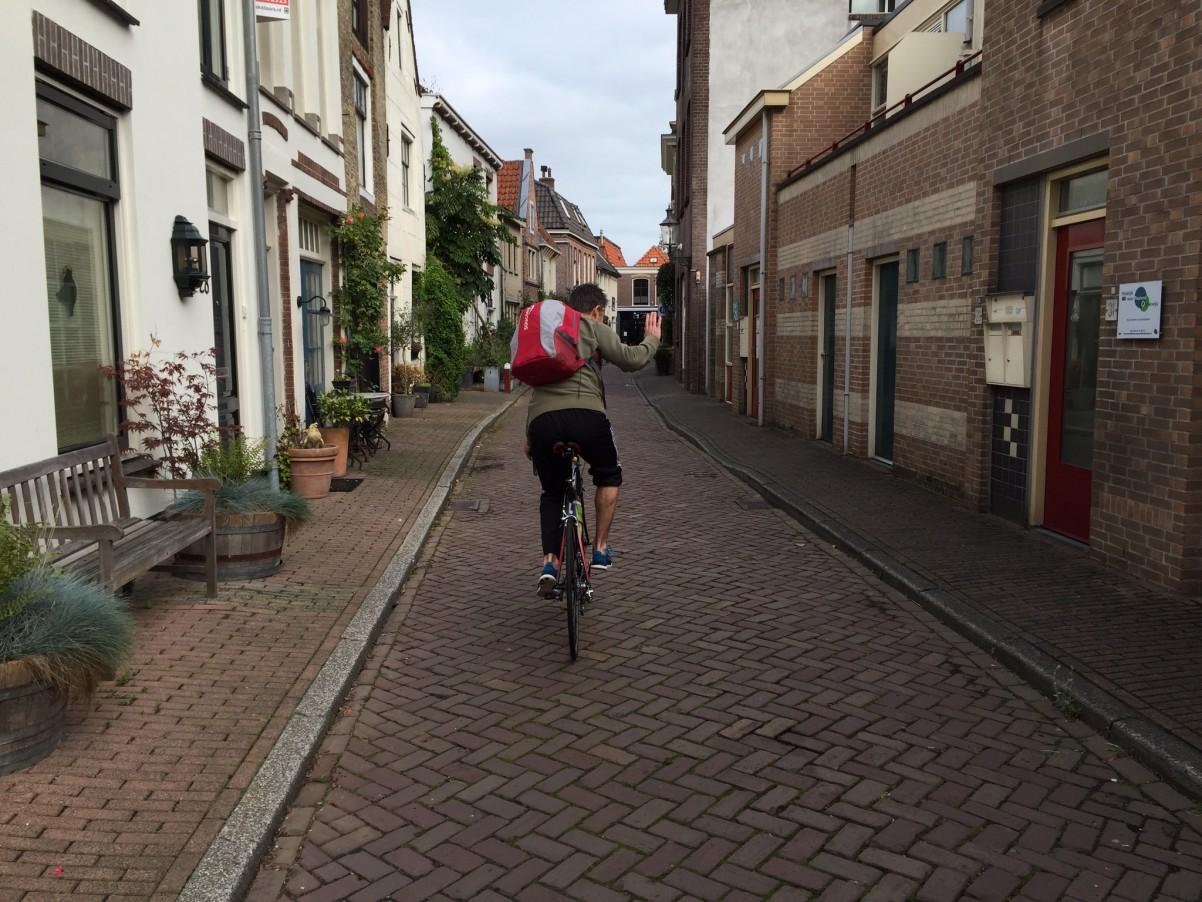 Jur op de fiets naar triatlon Weesp
