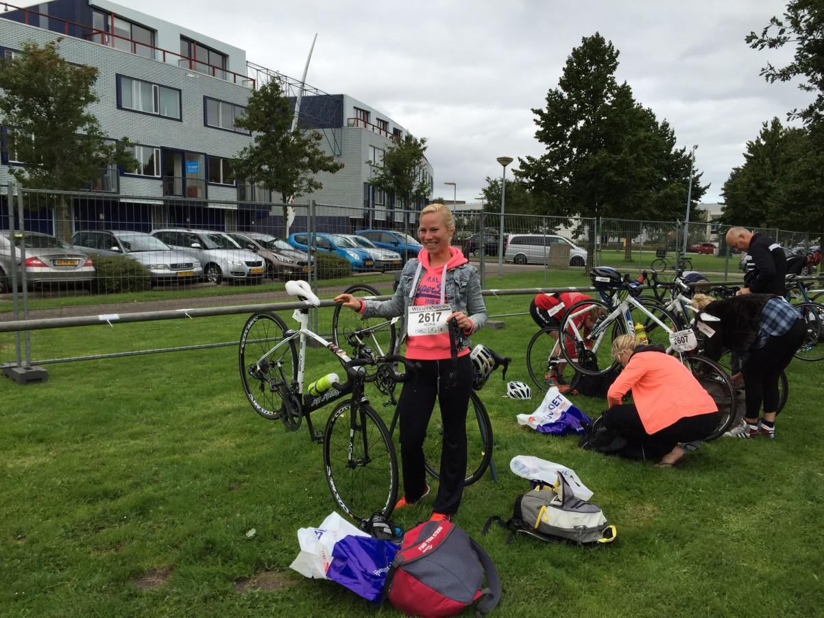 wisselzone kwart triatlon Weesp Nora