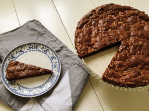 courgette brownie recept Miles and More Nora