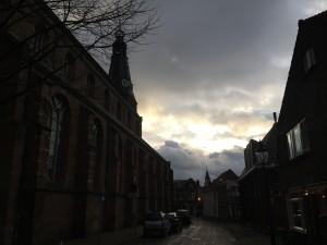 lucht boven Weesp kerk