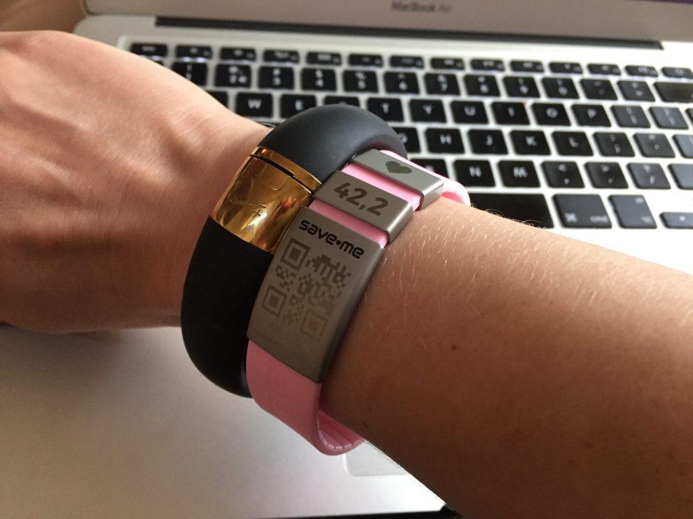 Save-Me armband roze