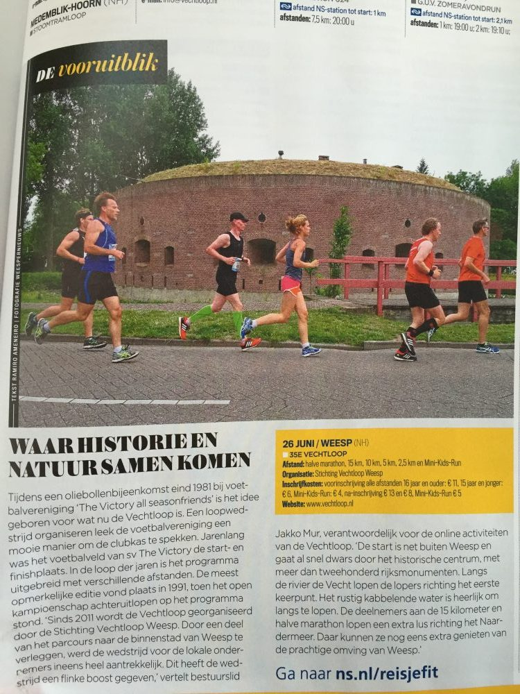 Vechtloop in Runner's World