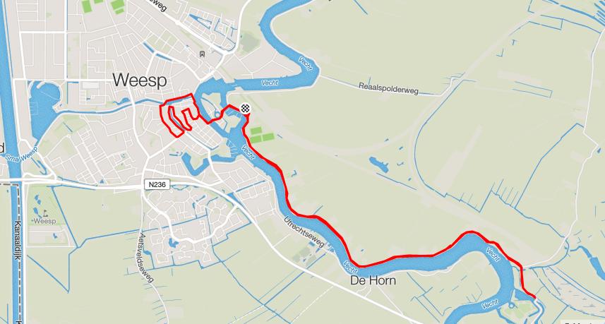 parcours vechtloop 2016 weesp
