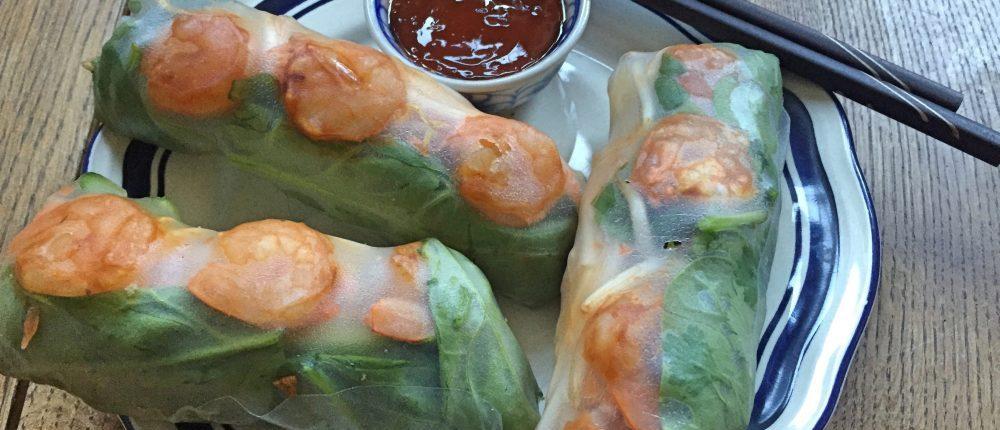 Vietnamese springrolls met garnalen recept