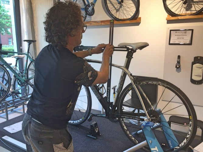 bikefit opmeten fiets