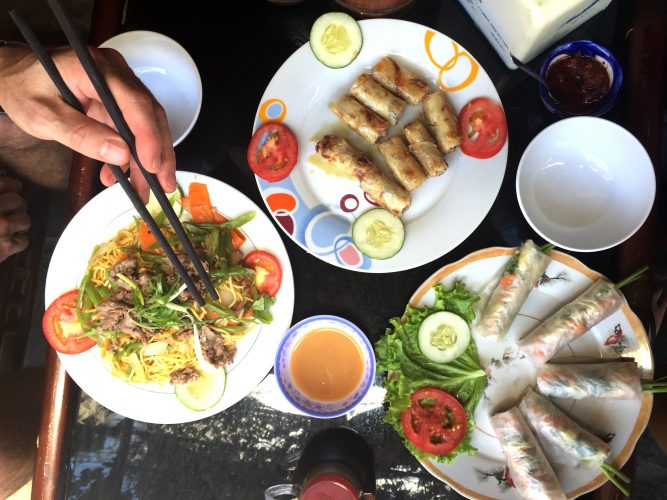 springrolls in Hoi An