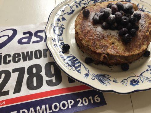teff pannenkoeken ontbijt Damloop 2016