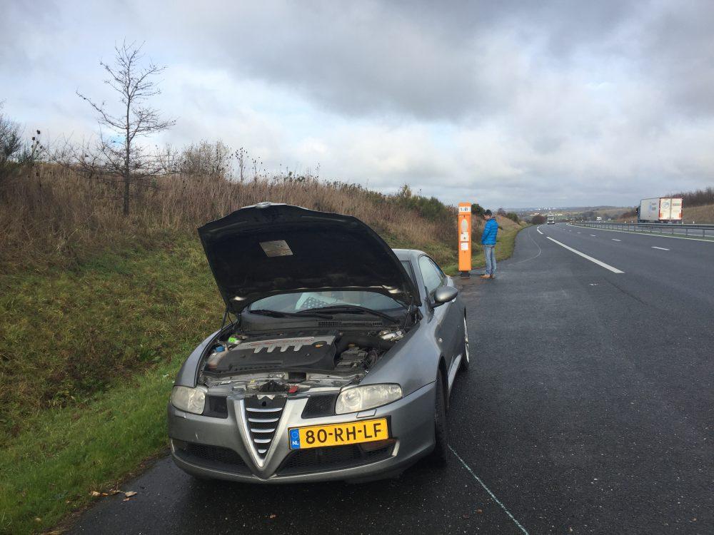 praatpaal tolweg pech onderweg ANWB to the rescue