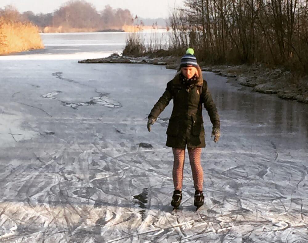schaatsen op de Ankeveense Plassen 2017