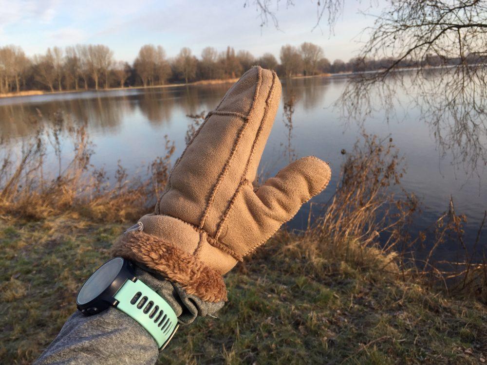 koud handschoenen duurloop Gaasperplas