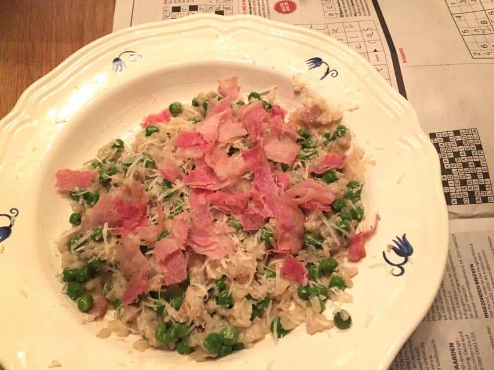 De eerste risotto die ik zelf maakte