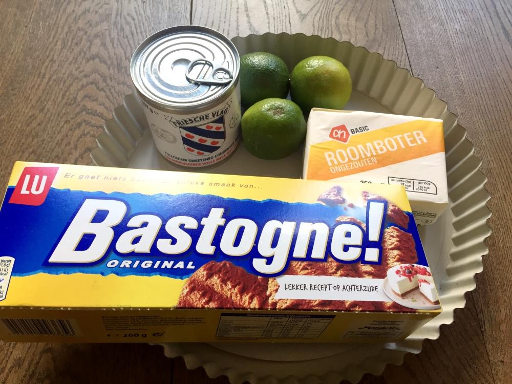 ingredienten voor limoentaart