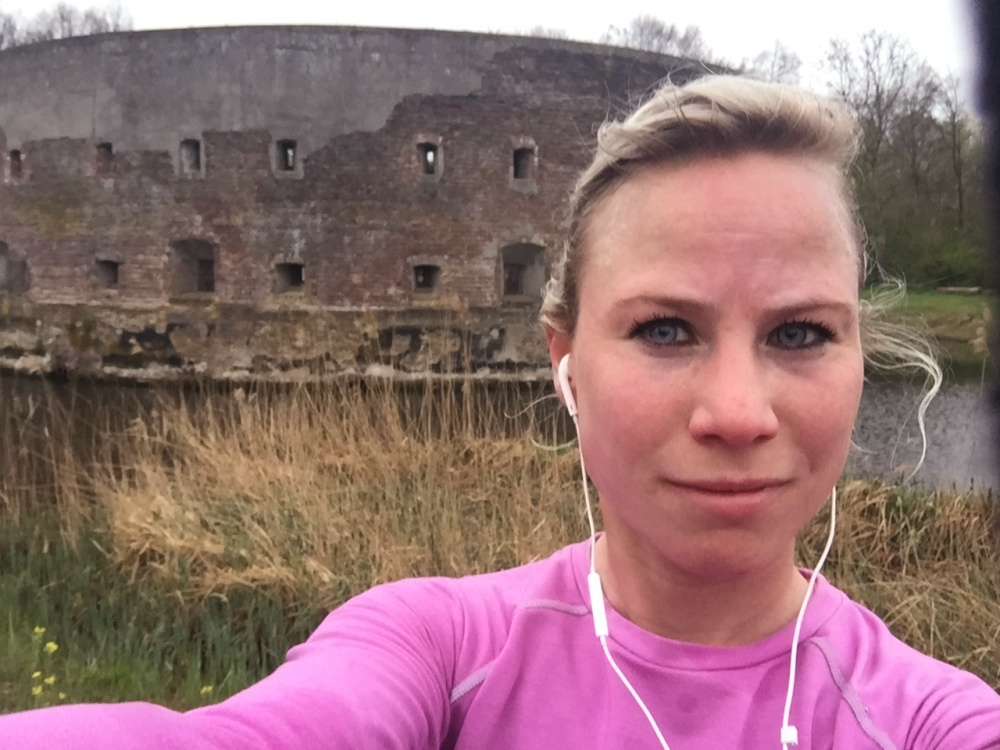 hardlopen bij Fort Uitermeer