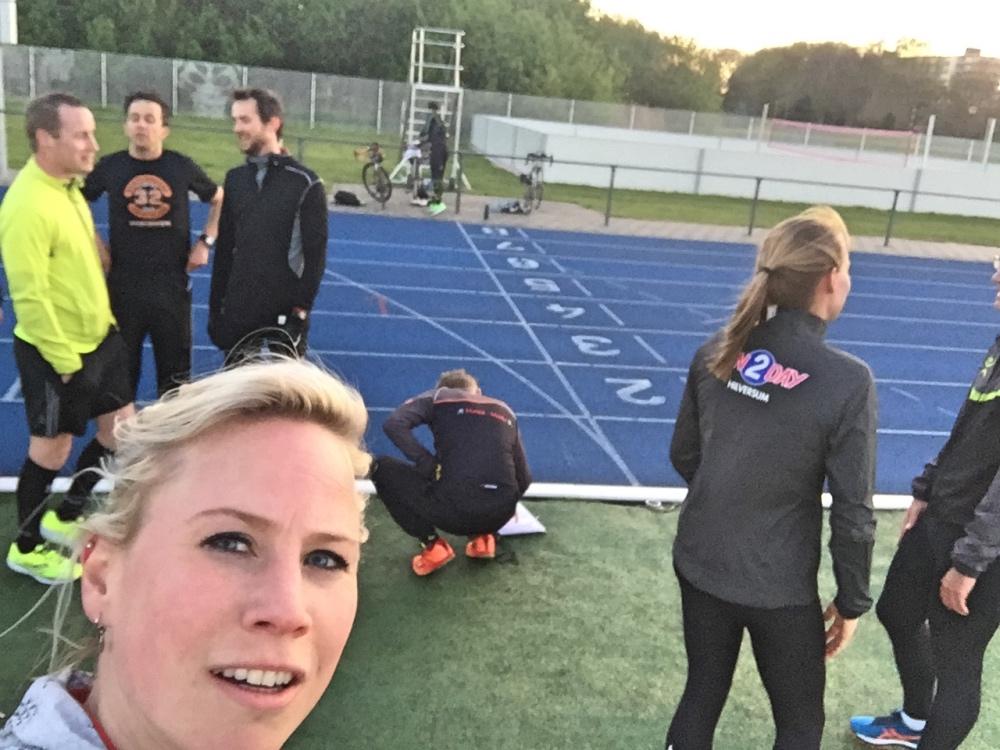 selfie tijdens training