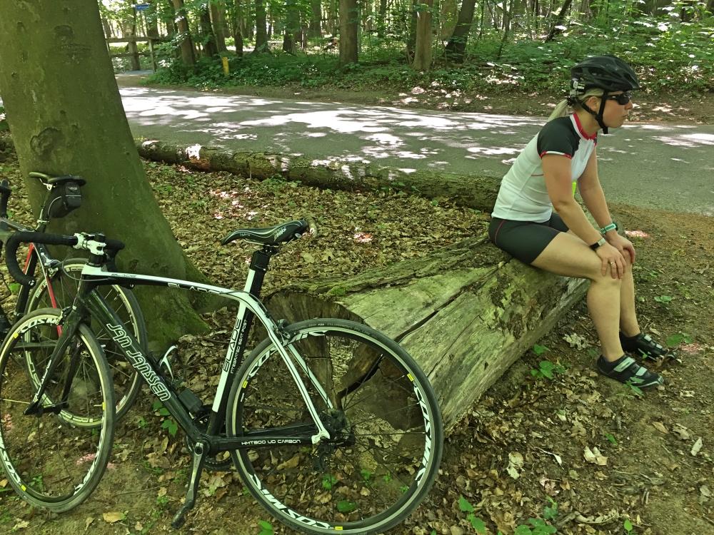 fietstochtje met Jur in de zomerse hitte