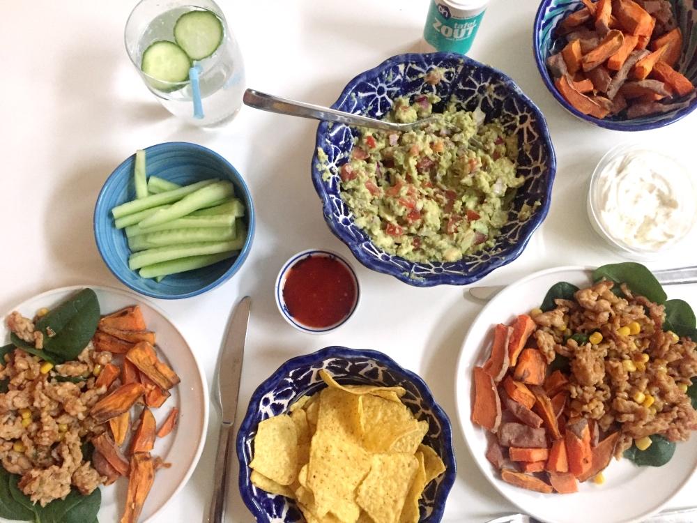 mexicaans eten op zaterdag