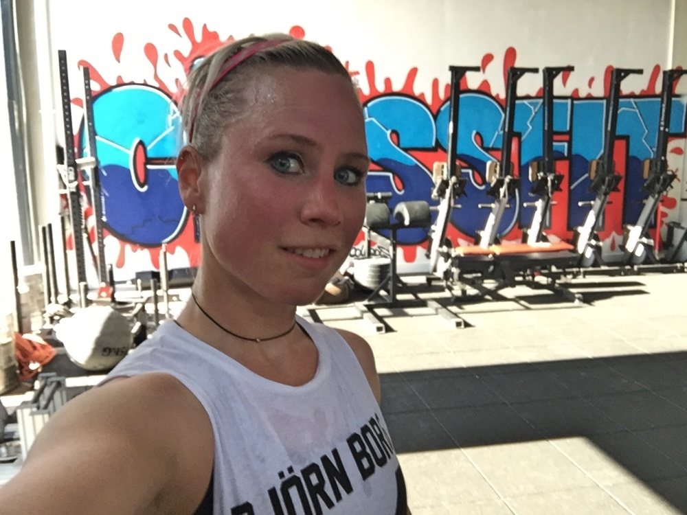 Nora in de crossfitbox