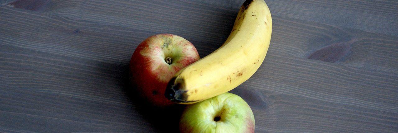 rare banaan met appels