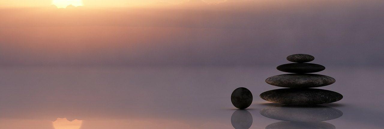 stenen voor mindfulness mediteren