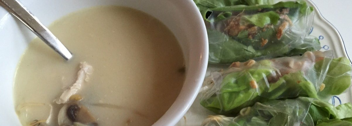 geknipt soep thom kha kai recept snel makkelijk
