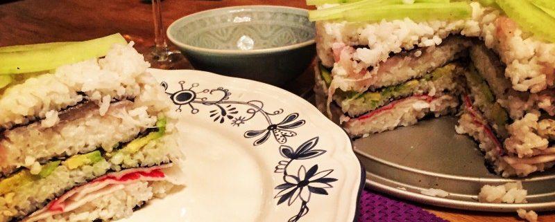 sushi taart sushitaart milesandmore taart opeten met wijntje er bij
