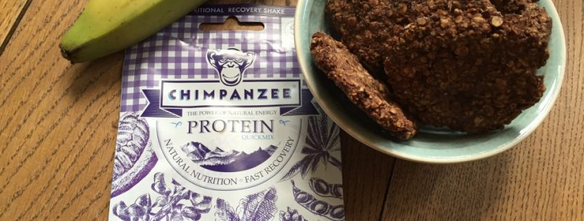 banaan chimpanzee proteine koekjes post-workout snack Nora blog Miles&More