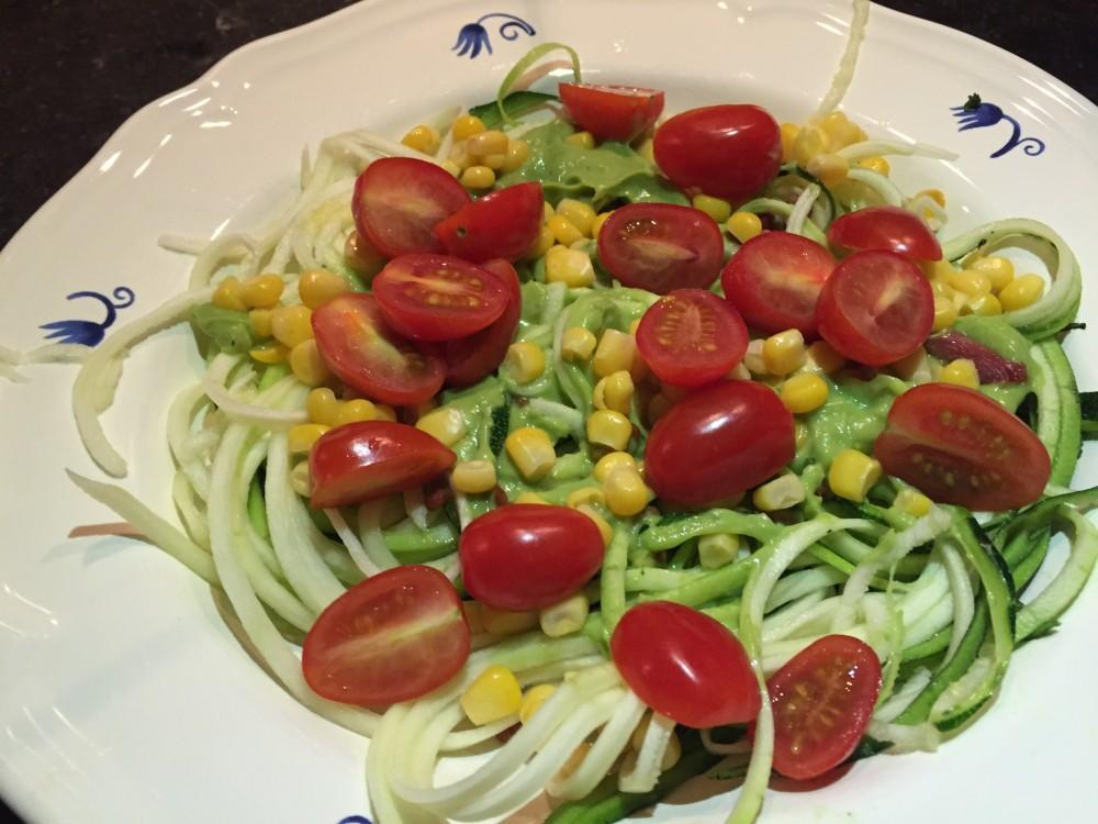 courgetti courgette pasta recept miles&more Nora
