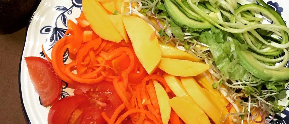 regenboogsalade Miles and More recept gezond vitamientjes