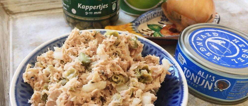 gezonde en makkelijke tonijnsalade recept