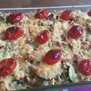 macaroni ovenschotel koolhydraten stapelen voor marathon
