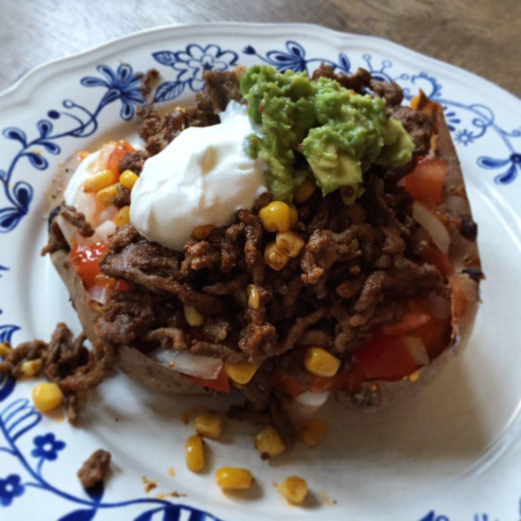 zoete aardappel mexican style