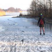 schaatsen op Ankeveense plassen Nora