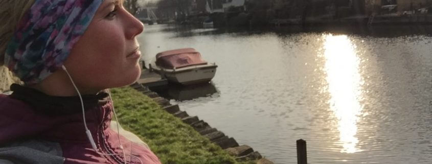 selfie pauze in Vreeland tijdens duurloop met nieuwe hoofdband