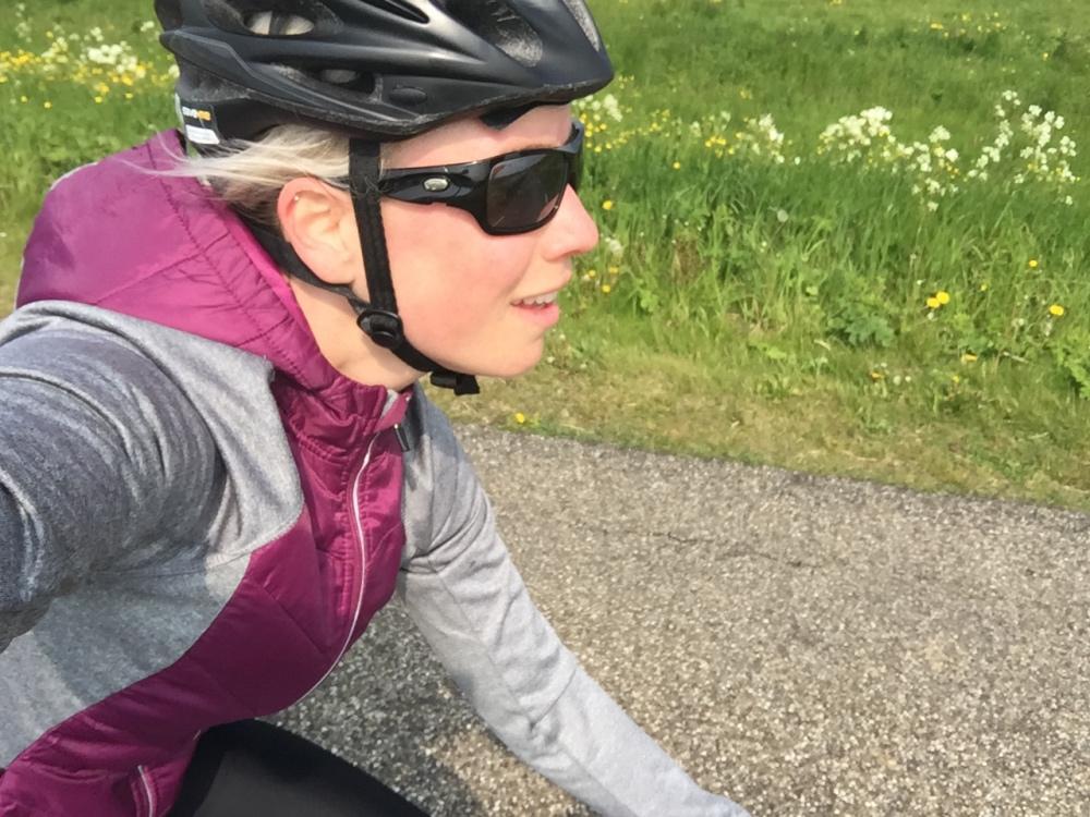 Rondje fietsen met harde wind