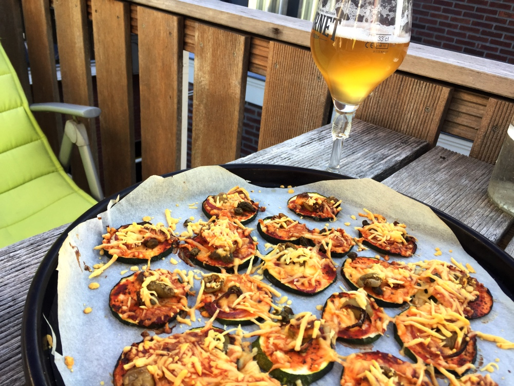 courgette pizza dakterras
