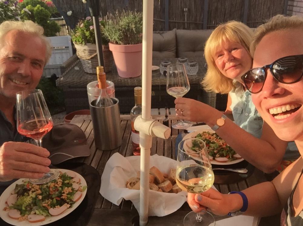 eten met Henri en Ineke vakantiekriebels