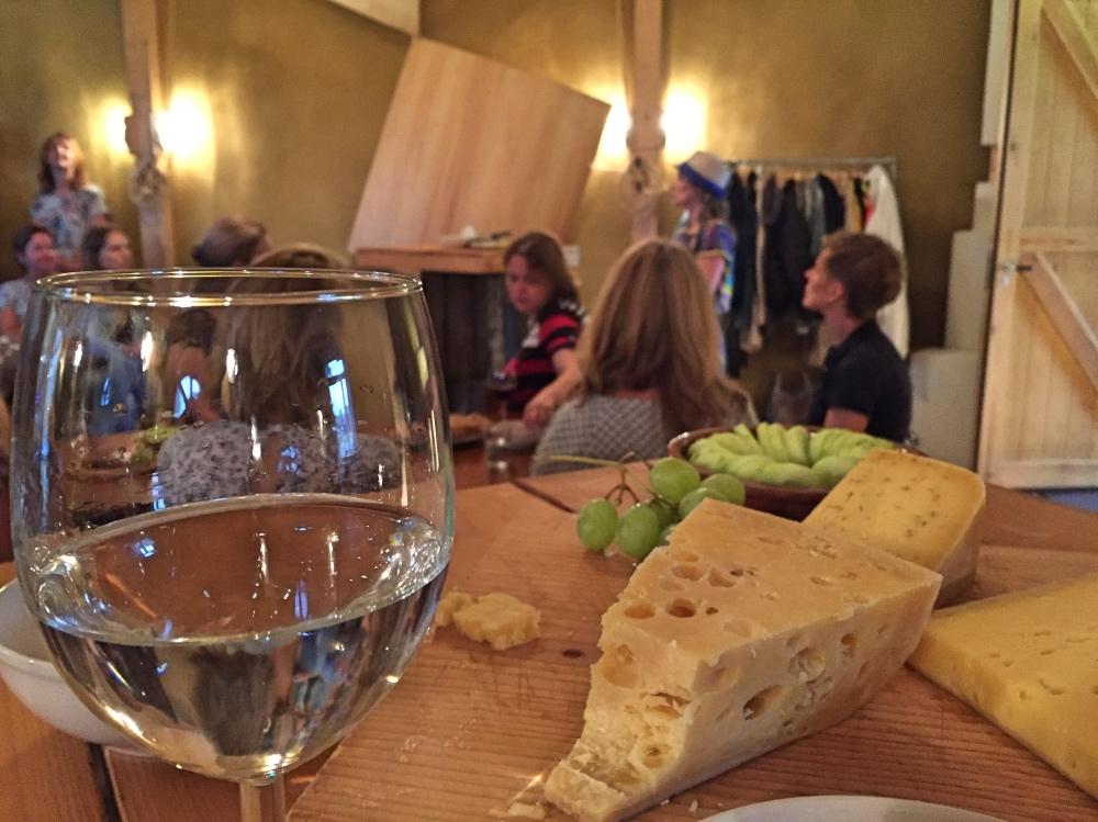 kaas en wijn bij de Groene Griffioen