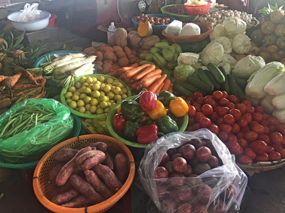 op de markt in Hoi An