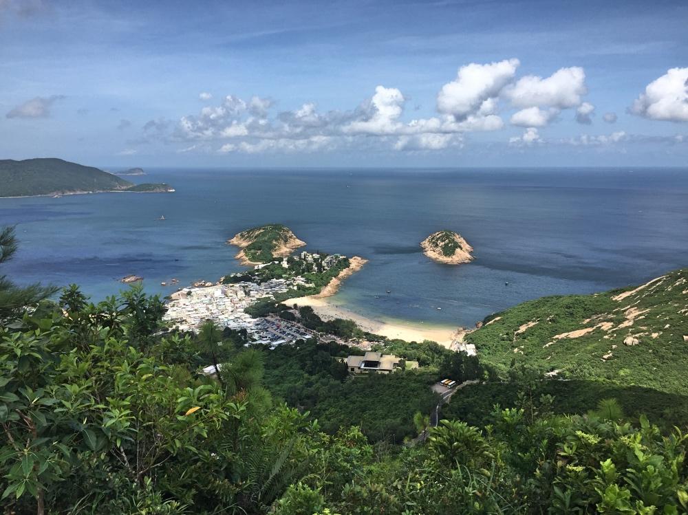 Uitzicht op Big wave bay