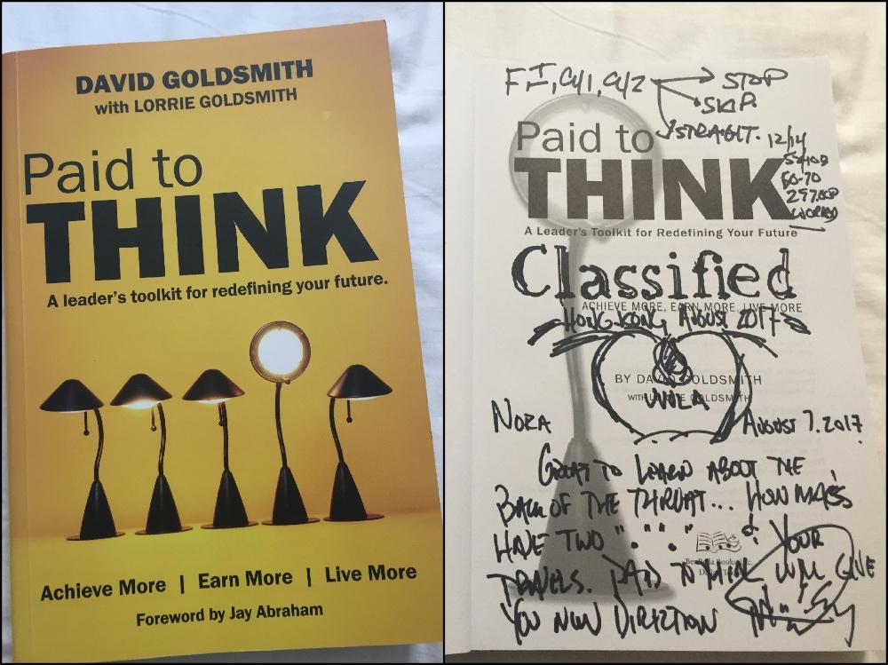 boek gekregen van David Goldsmith
