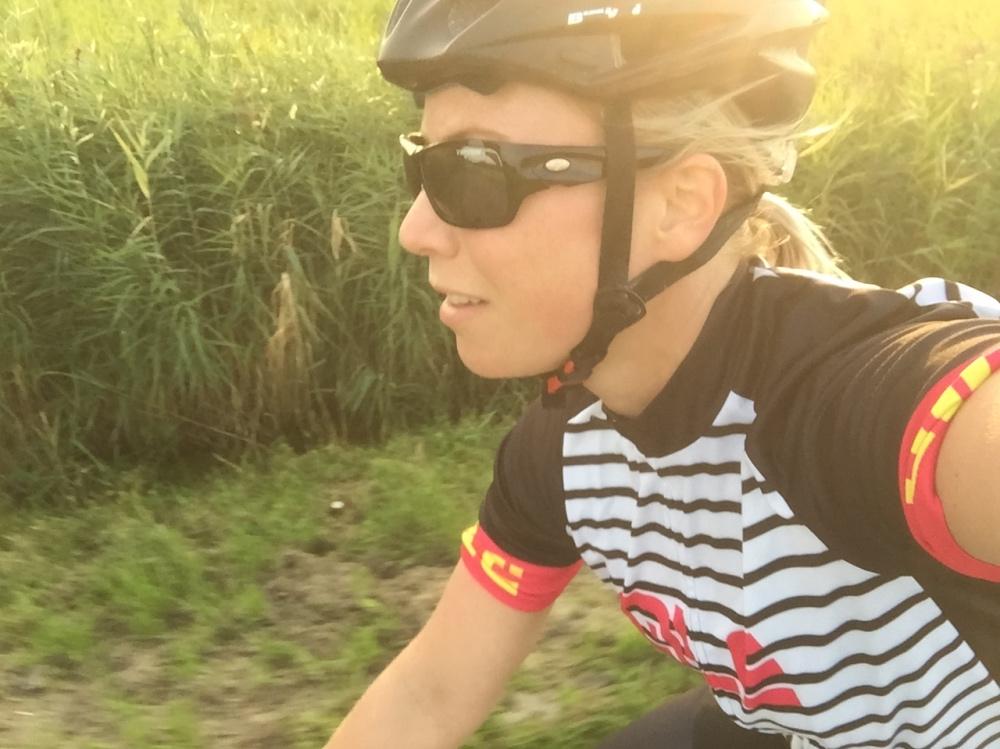 fietsen in de zon is best wel fijn.