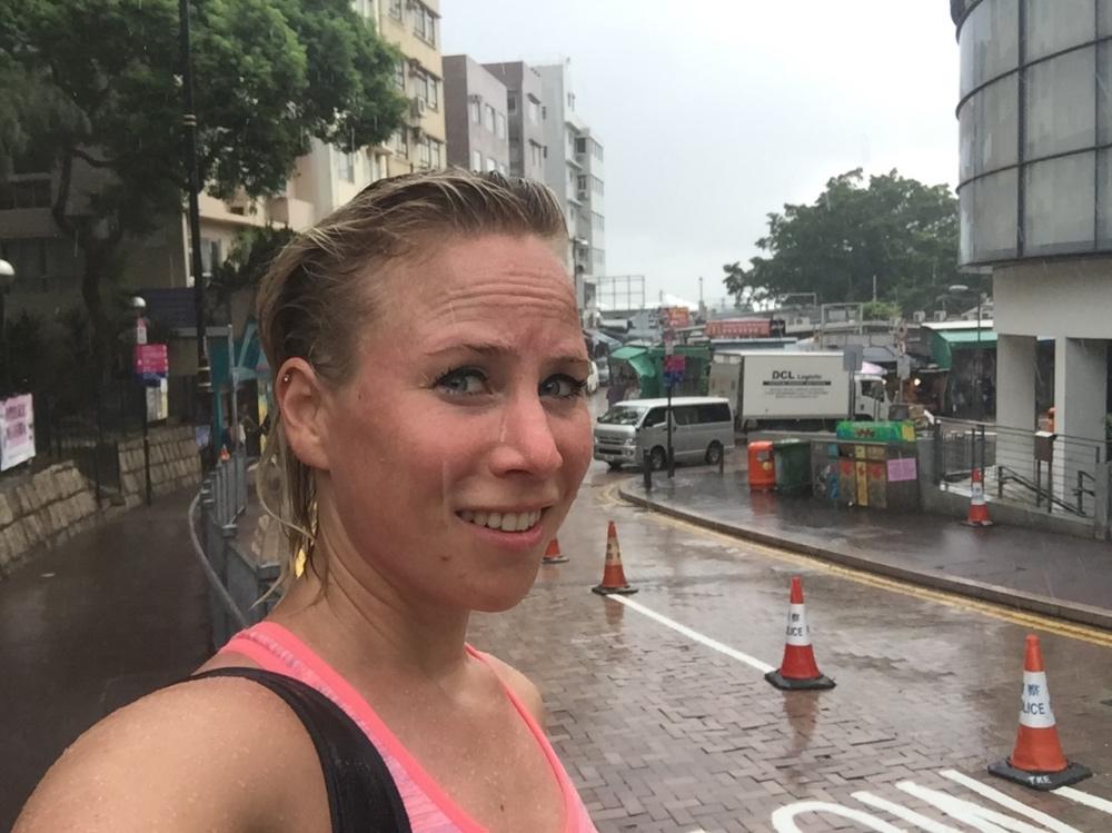 regen bij Stanley market
