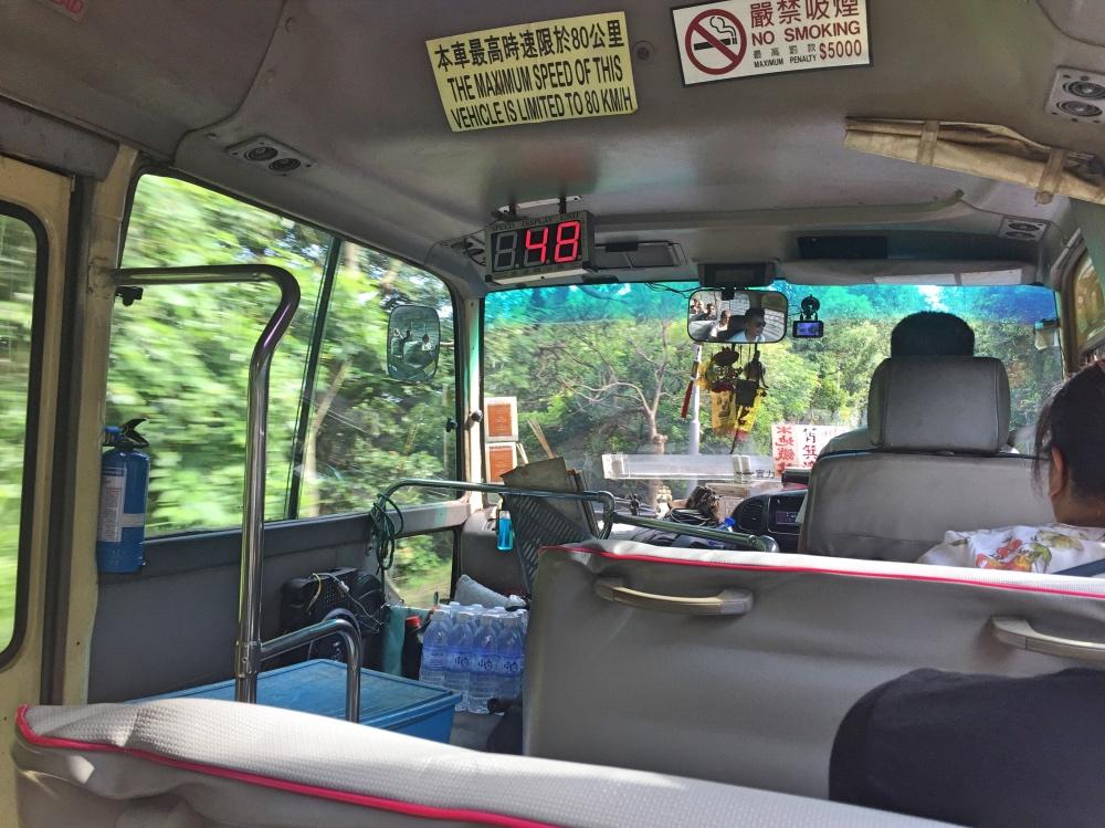 terug met de minibus